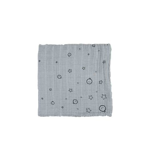 MORI Regular Muslin - Grey-Muslin Squares- Natural Baby Shower