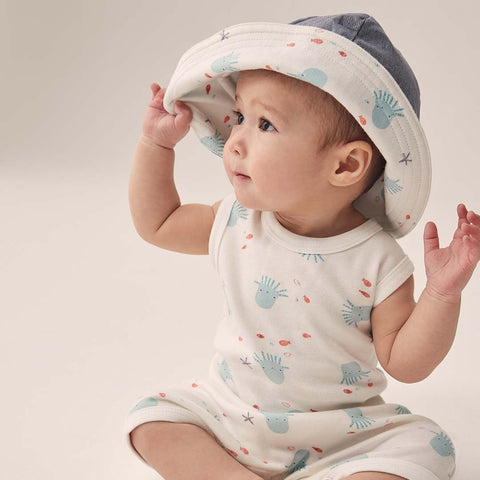 MORI Reversible Hat - Octopus-Hats- Natural Baby Shower