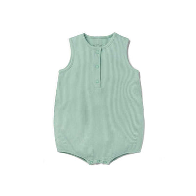 MORI Ribbed Bloomer - Mint-Rompers- Natural Baby Shower