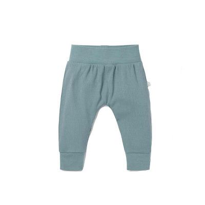 MORI Ribbed Comfy Joggers - Blue - Ex-Display-Pants-Blue-6-9m- Natural Baby Shower