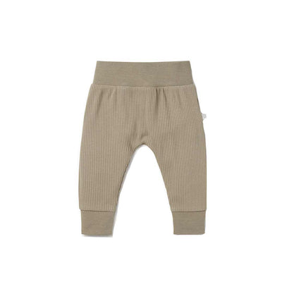 MORI Ribbed Comfy Joggers - Taupe-Pants- Natural Baby Shower
