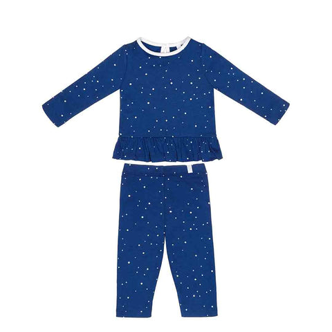 MORI Ruffle PJs - Night Sky-Pyjamas- Natural Baby Shower