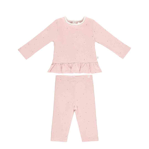 MORI Ruffle PJs - Stardust-Pyjamas- Natural Baby Shower