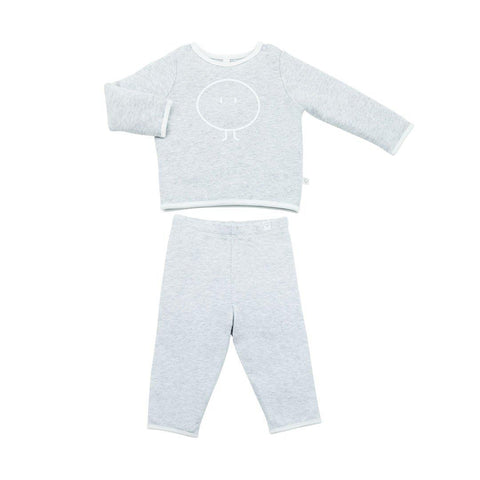MORI Snoozy PJ's - Grey-Pyjamas- Natural Baby Shower
