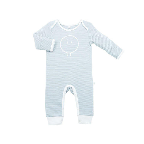 MORI Snoozy Sleepsuit - Blue-Sleepsuits- Natural Baby Shower