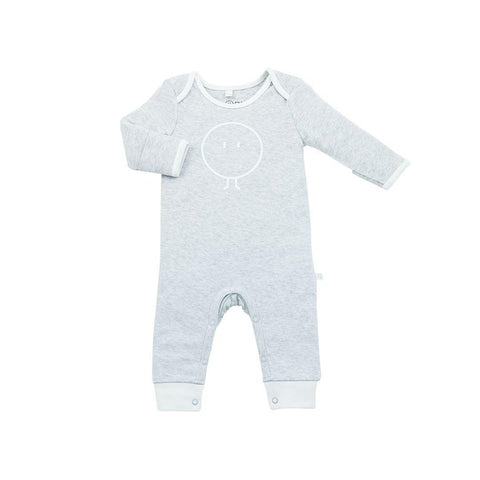 MORI Snoozy Sleepsuit - Grey-Sleepsuits- Natural Baby Shower
