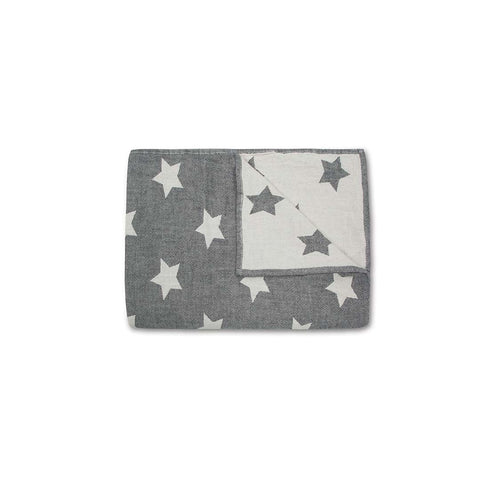 MORI Star Throw - Dark Grey-Blankets- Natural Baby Shower