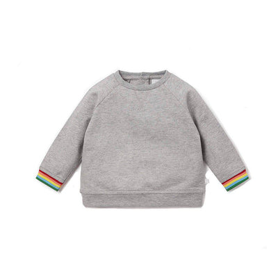 MORI Sweatshirt - Grey/Rainbow-Jumpers- Natural Baby Shower
