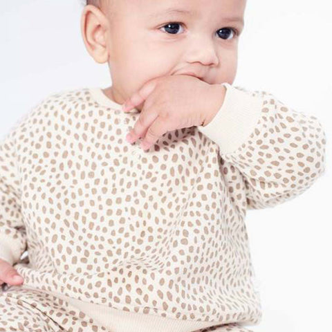 MORI Sweatshirt - Wild Print-Long Sleeves- Natural Baby Shower