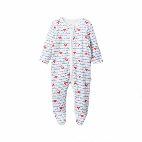MORI Zip-Up Sleepsuit - Loves-Sleepsuits- Natural Baby Shower