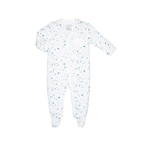 MORI Zip-Up Sleepsuit - Space-Sleepsuits- Natural Baby Shower
