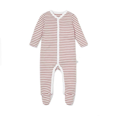 MORI Zip-up Sleepsuit - Copper-Sleepsuits- Natural Baby Shower