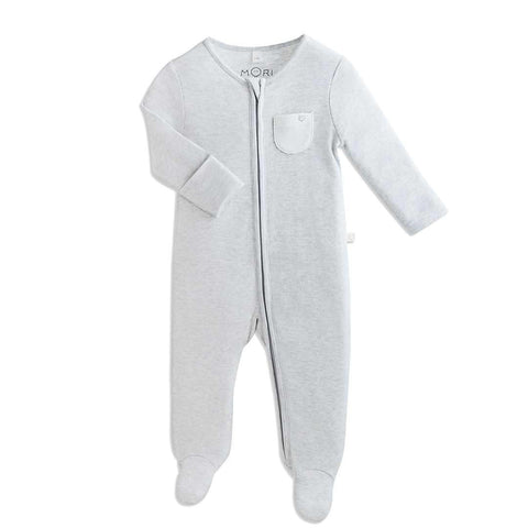 MORI Zip-up Sleepsuit - Grey