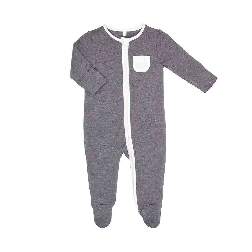 MORI Zip-up Sleepsuit - Lunar-Sleepsuits- Natural Baby Shower
