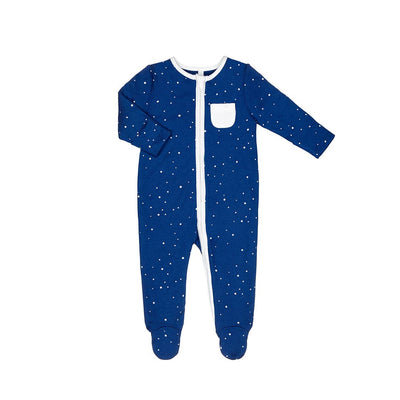 MORI Zip-up Sleepsuit - Night Sky-Sleepsuits- Natural Baby Shower