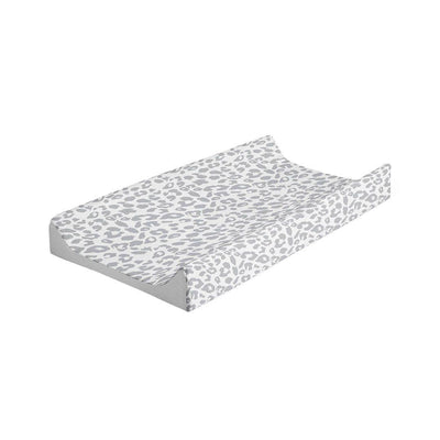 Mabel + Fox Wedge Changing Mat - Grey Leopard-Changing Mats & Covers- Natural Baby Shower