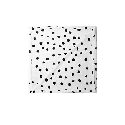 Mama Shack XL Muslin - Dotty-Muslin Squares- Natural Baby Shower
