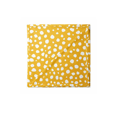 Mama Shack XL Muslin - Mustard Spotty-Muslin Squares- Natural Baby Shower