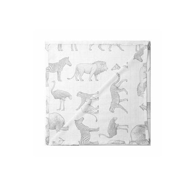 Mama Shack XL Muslin - Safari-Muslin Squares- Natural Baby Shower