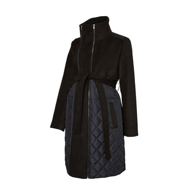 Mamalicious Tikka Mix Jacket - Black-Maternity Coats- Natural Baby Shower