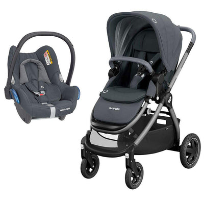 Maxi-Cosi Adorra Pushchair + CabrioFix Car Seat - Essential Graphite-Travel Systems- Natural Baby Shower