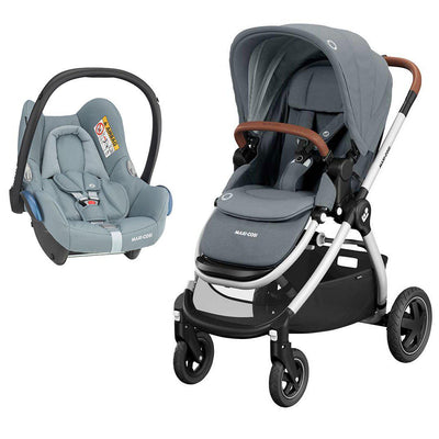 Maxi-Cosi Adorra Pushchair + CabrioFix Car Seat - Essential Grey-Travel Systems- Natural Baby Shower