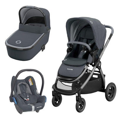 Maxi-Cosi Adorra Travel System Bundle - Essential Graphite-Travel Systems- Natural Baby Shower