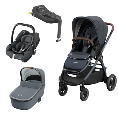 Maxi-Cosi Adorra2 Travel System Bundle - Essential Graphite-Travel Systems- Natural Baby Shower