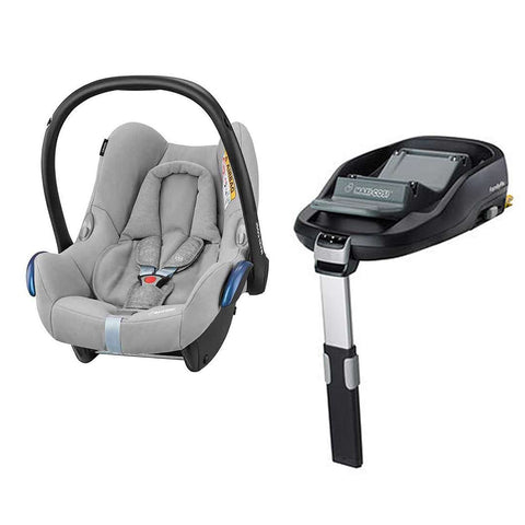 Maxi-Cosi CabrioFix & FamilyFix - Nomad Grey-Car Seats- Natural Baby Shower