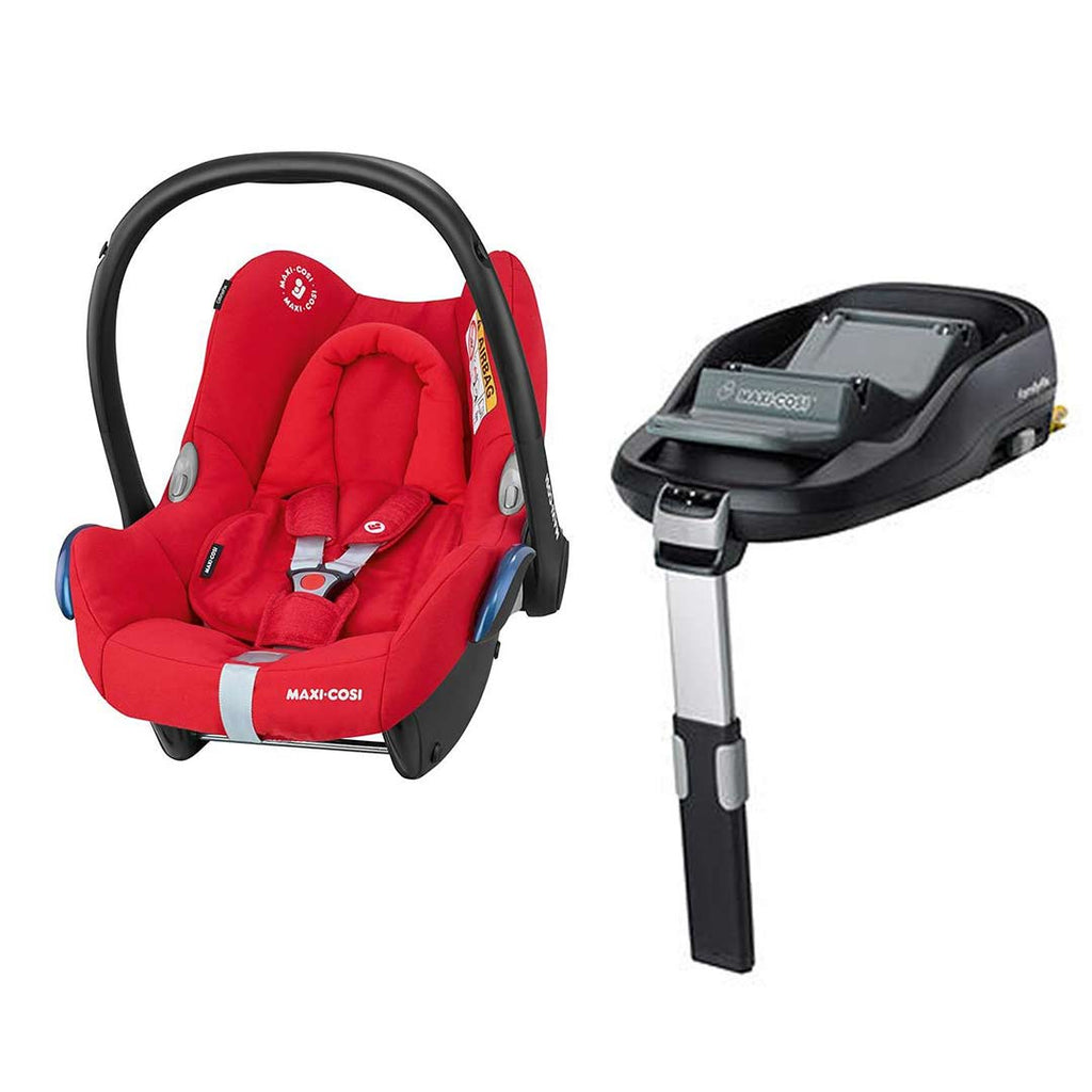 Maxi-Cosi CabrioFix & FamilyFix - Nomad Red-Car Seats- Natural Baby Shower