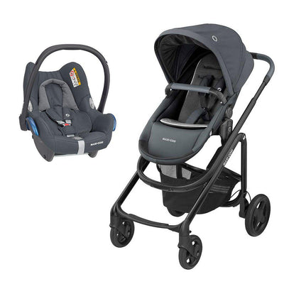 Maxi-Cosi Lila CP Pushchair + CabrioFix Car Seat - Essential Graphite-Travel Systems- Natural Baby Shower