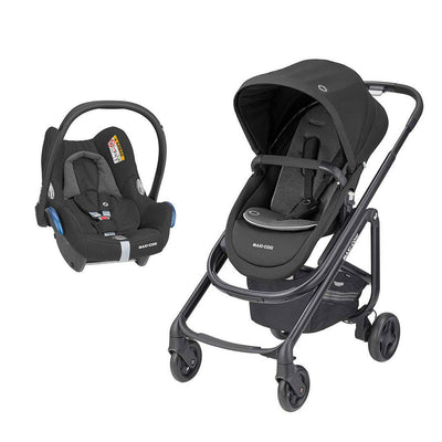 Maxi-Cosi Lila SP Pushchair + CabrioFix Car Seat - Essential Black-Travel Systems- Natural Baby Shower