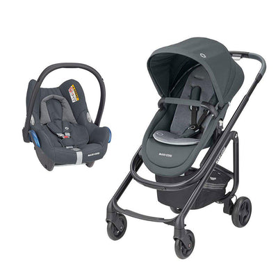 Maxi-Cosi Lila SP Pushchair + CabrioFix Car Seat - Essential Graphite-Travel Systems- Natural Baby Shower