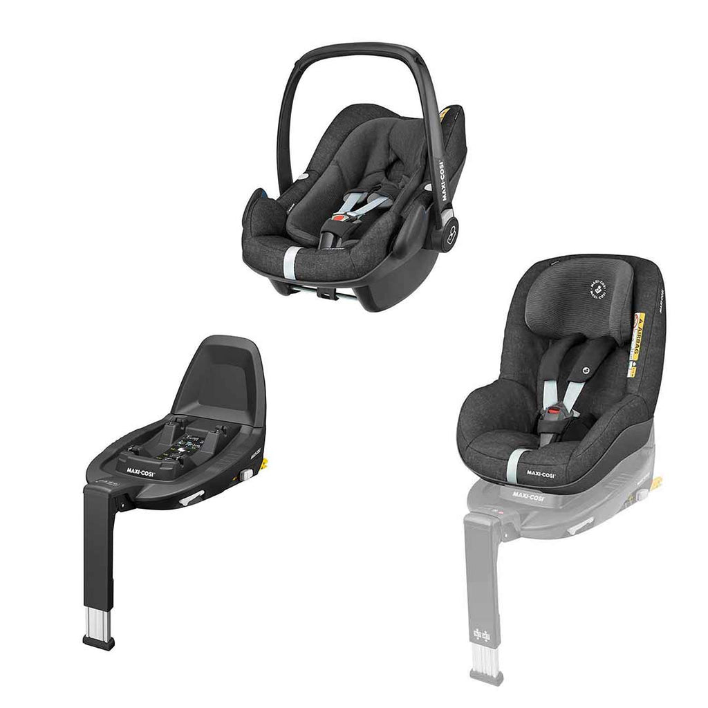 Maxi-Cosi Pebble Plus Bundle - Nomad Black-Car Seats- Natural Baby Shower