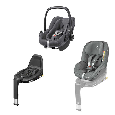 Maxi-Cosi Pebble Plus Bundle - Sparkling Grey-Car Seats- Natural Baby Shower