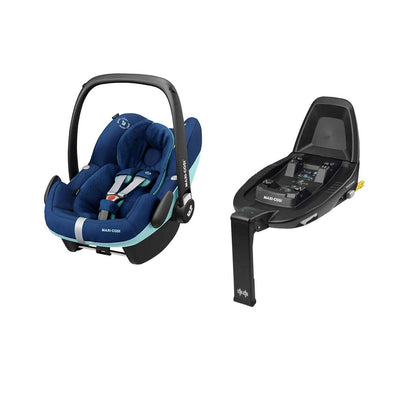Maxi-Cosi Pebble Pro i-Size Car Seat Bundle - Essential Blue-Car Seats- Natural Baby Shower