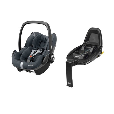 Maxi-Cosi Pebble Pro i-Size Car Seat Bundle - Essential Graphite-Car Seats- Natural Baby Shower