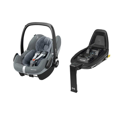 Maxi-Cosi Pebble Pro i-Size Car Seat Bundle - Essential Grey-Car Seats- Natural Baby Shower