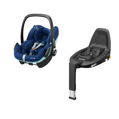 Maxi-Cosi Pebble Pro i-Size Car Seat + FamilyFix3 - Essential Blue-Car Seats- Natural Baby Shower