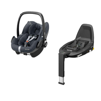 Maxi-Cosi Pebble Pro i-Size Car Seat + FamilyFix3 - Essential Graphite-Car Seats- Natural Baby Shower