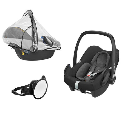 Maxi-Cosi Rock, Mirror & Raincover - Nomad Black-Car Seats- Natural Baby Shower