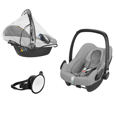 Maxi-Cosi Rock, Mirror & Raincover - Nomad Grey-Car Seats- Natural Baby Shower