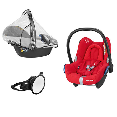 Maxi-Cosi Rock, Mirror & Raincover - Nomad Red-Car Seats- Natural Baby Shower