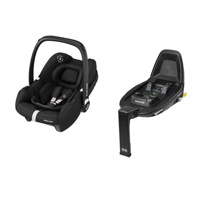 Maxi-Cosi Tinca i-Size Car Seat + FamilyFix 2 - Essential Black-Car Seats- Natural Baby Shower