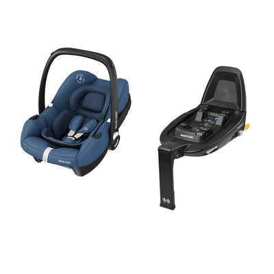 Maxi-Cosi Tinca i-Size Car Seat + FamilyFix 2 - Essential Blue-Car Seats- Natural Baby Shower