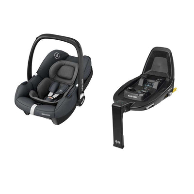 Maxi-Cosi Tinca i-Size Car Seat + FamilyFix 2 - Essential Graphite-Car Seats- Natural Baby Shower