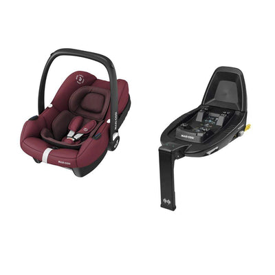 Maxi-Cosi Tinca i-Size Car Seat + FamilyFix 2 - Essential Red-Car Seats- Natural Baby Shower