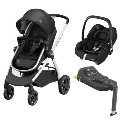 Maxi-Cosi Zelia2 Travel System - Essential Black-Travel Systems- Natural Baby Shower