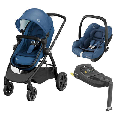 Maxi-Cosi Zelia2 Travel System - Essential Blue-Travel Systems- Natural Baby Shower