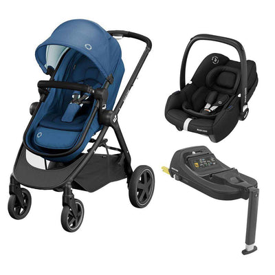 Maxi-Cosi Zelia2 Travel System - Essential Blue + Black-Travel Systems- Natural Baby Shower